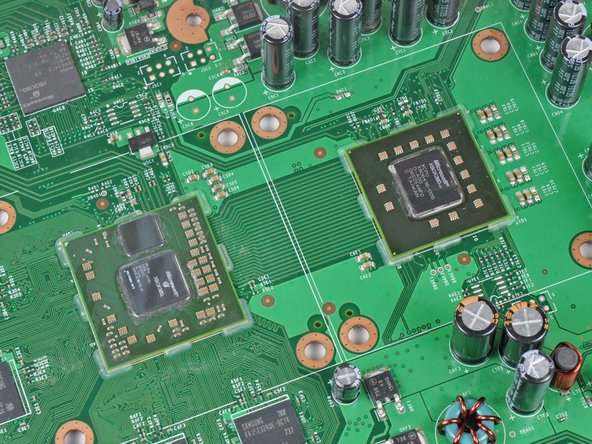 Image 2/2: Before proceeding any further, now is the perfect time to reflow the solder on the motherboard. Reflowing provides a higher chance of success in fixing red ring failures and is not hard to accomplish. All that is required is a [product|IF145-031|heat gun]. We have a [guide|5845|guide|stepid=25864] that makes it easy.