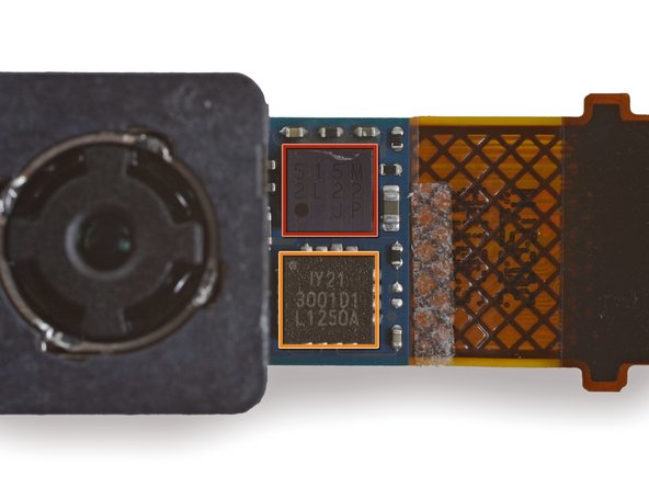 Image 2/2: [http://www.chipworks.com/blog/recentteardowns/2013/03/28/inside-the-htc-one/|Chipworks] found it to be a 4MP backside-illuminated sensor made by ST Microelectronics.