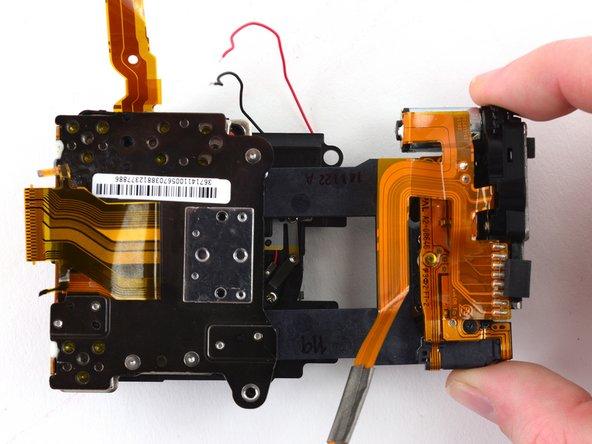 Pull the sensor frame away from the sensor assembly.