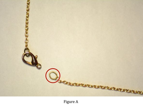 Image 1/1: Figure A: The jump ring is located on one end of the necklace.