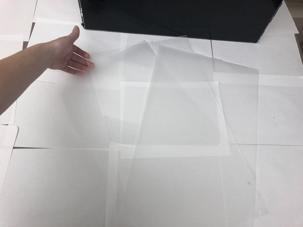 (second picture provides image of what the plastic screen protectors look like)