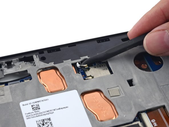 Disconnecting the antenna on the HP Pro x2 612 G2 tablet