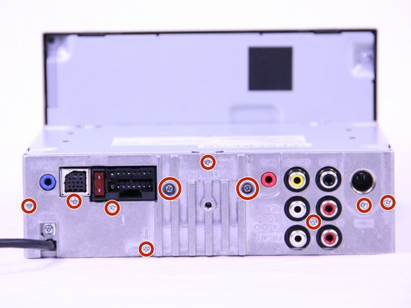 Remove the ten 3.5mm Phillips #0 screws from the back plate.
