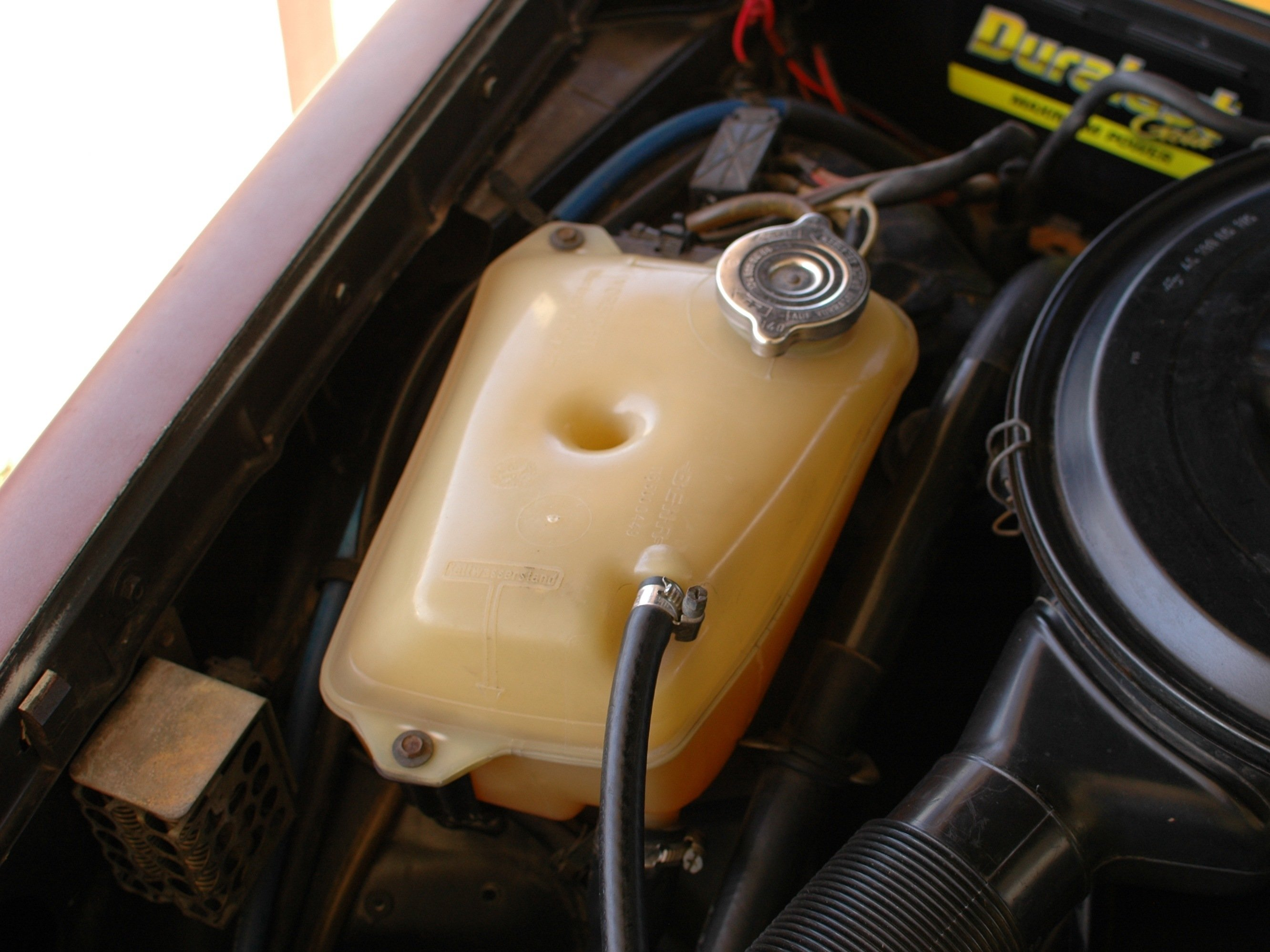 How to check the coolant level in your Turbo Diesel Mercedes W123