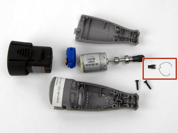 Dremel 7300 MiniMite Cordless Shaft Lock Assembly Replacement