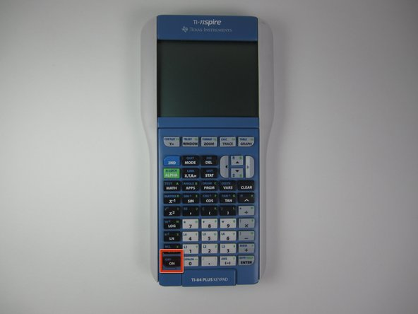 "Image 2/2: Press the ""ON"" button to turn on the calculator."