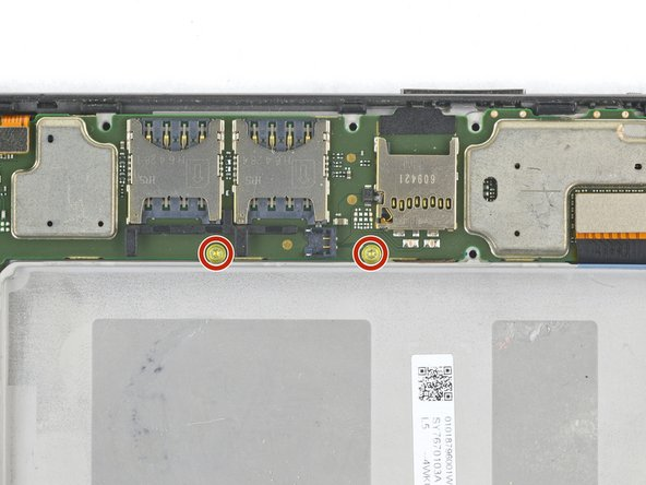 Remove the two 2.4 mm T3 screws next to the SIM card slot.