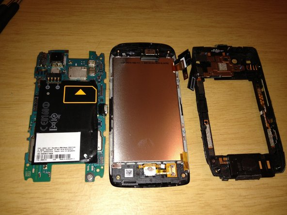 With the board removed, you can then simply lift out the LCD display