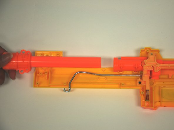 Remove the barrel and muzzle assembly from the gun body.