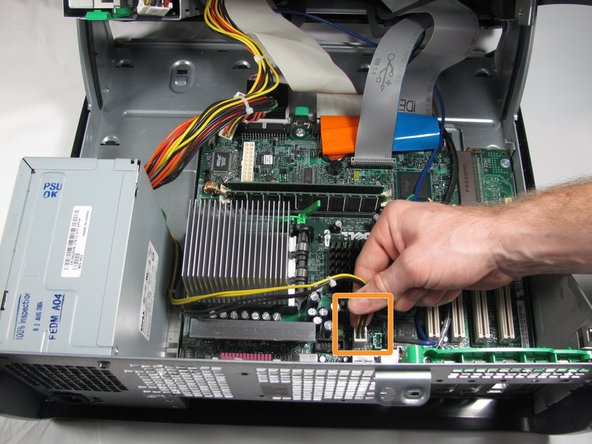 Image 2/2: Disconnect the P4 12V(4x2) power cable from the motherboard.