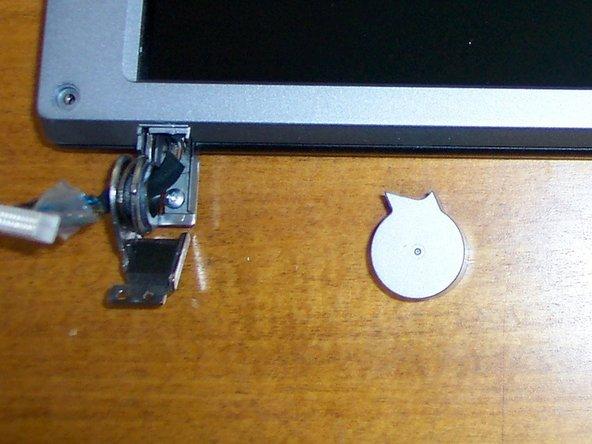 Image 1/3: Remove 2 caps from hinges. Remove bezel.
