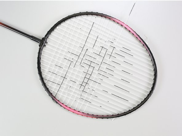 With each additional row you string up the racquet, switch from over-under to under-over so that every other horizontal string follows the same pattern.