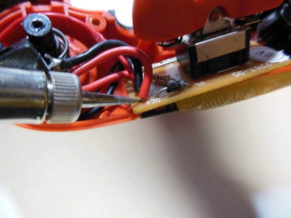Make sure that the tip of the soldering iron is clean of all residue before starting.