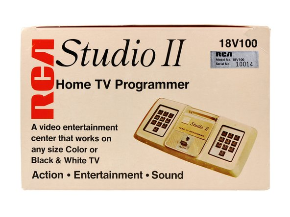 "Image 1/3: One side of the box states that it ""works on any size Color or Black & White TV."" Sweet! Too bad the Studio II puts out a signal in Black & White ++only++."