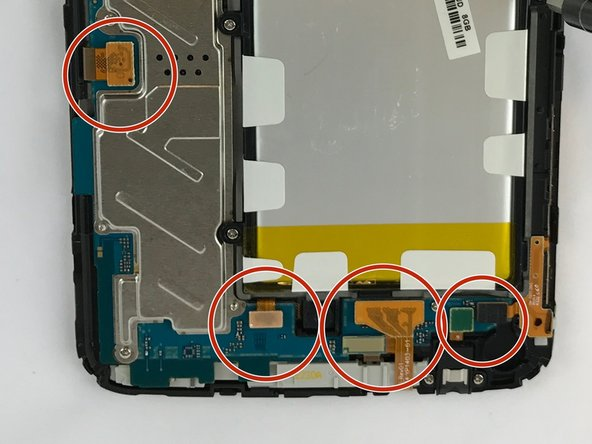 Before Changing the motherboard, you have to lift up the (ZIF) zero insertion force by using the plastic opening tool, separating the connector from the batter ribbon cable
