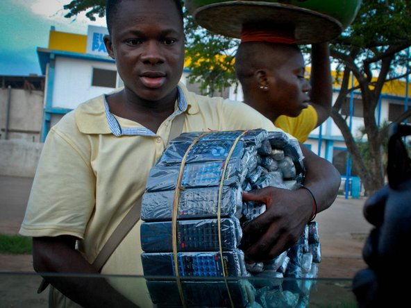 A young man at the Agbogbloshie electronics scrapyard