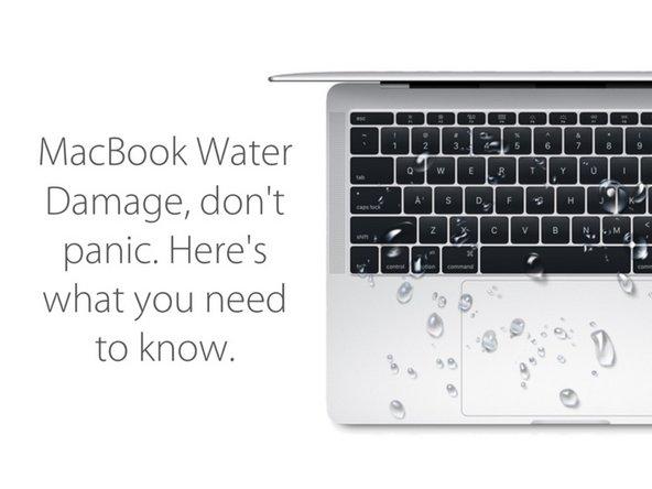 Diagnostic des dégâts dues à l'eau sur un MacBook