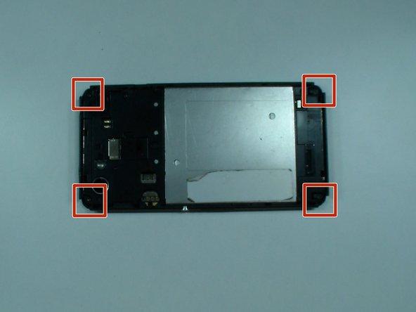 Image 2/3: Remove 4x rubber corners.