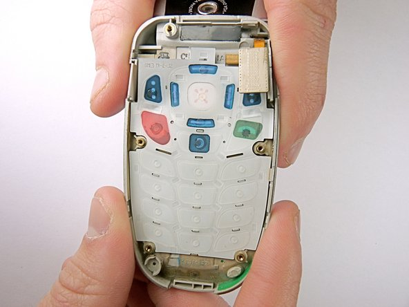 After removing motherboard, the phone will look like this.
