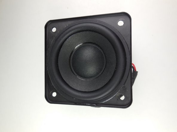 The subwoofer has now been removed from the device and can be replaced.