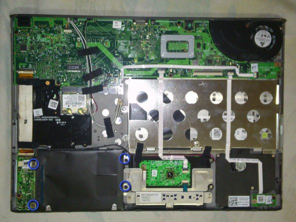 Unscrew the four (4) screws from the hard drive enclosure.