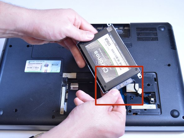Remove the hard drive from the compartment.