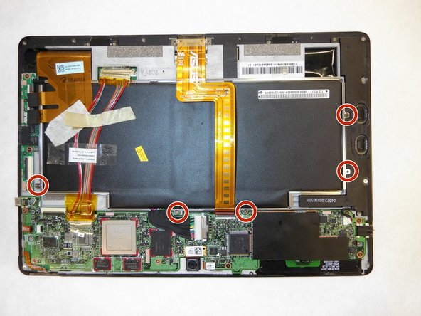 Use a Phillips #00 screwdriver to remove the 3mm screws connecting the battery to the motherboard.