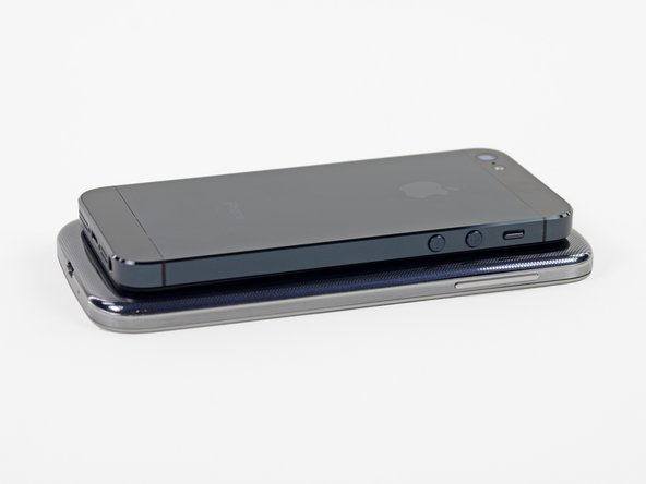 "Image 2/2: The [http://apod.nasa.gov/apod/ap110101.html|Galaxy|new_window=true] S4 is considerably larger than the iPhone 5, clocking in at 5.38"" x 2.71"" x .31"" and weighing 4.6 ounces. The iPhone 5, for comparison, measures 4.87"" x 2.69"" x 0.30"" and weighs 3.95 ounces."