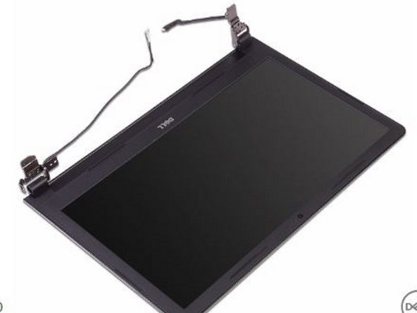 Place the NEW display assembly on a clean, flat surface.