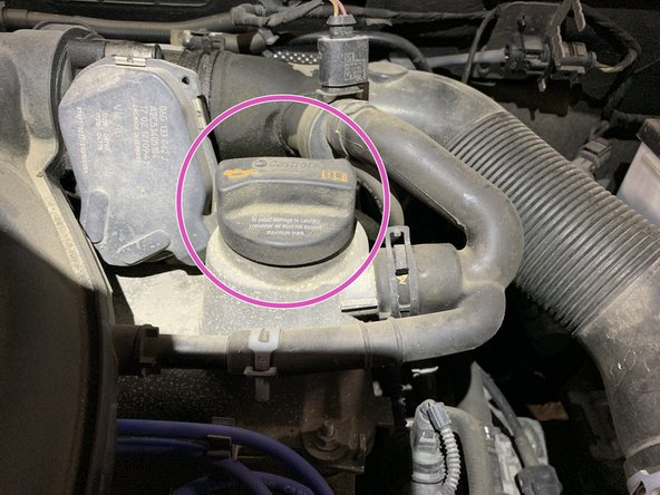 Locate the oil cap