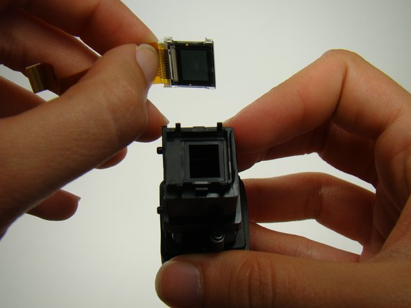 Remove the LCD screen from the viewfinder.