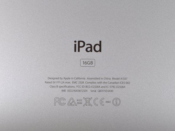 The iPad's model number is A1337 as previously suggested by the FCC filing. Yes, we think that's l33t.
