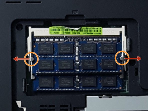 The RAM is located in the top of the section you uncovered.