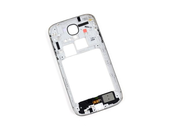 Image 3/3: Remaining in the midframe are the springy volume and power buttons, amply-sized speaker, and a [http://arstechnica.com/apple/2013/04/apple-poised-to-pay-53-million-over-water-damaged-iphone-warranties/|liquid damage indicator|new_window=true].