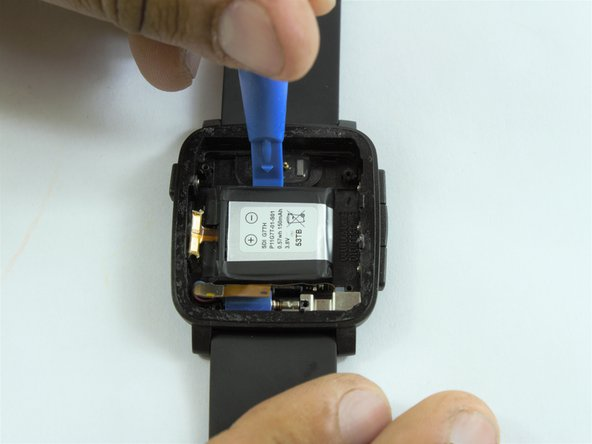 Image 1/2: There battery might be glued to the case.