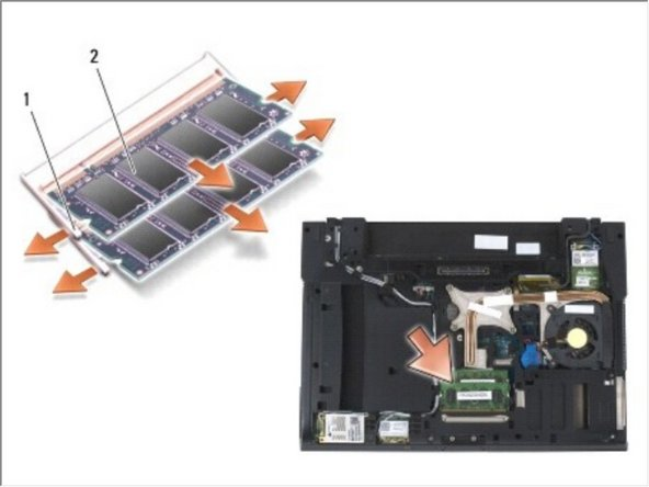 Dell Precision M2400 Memory Module Replacement