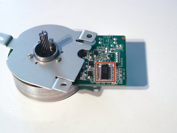 This motor might be a special motor designed for use in this printer, as it and many other components have a number with the format RK2-0xxx on them.