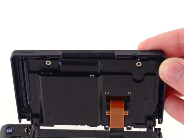 Image 1/3: Do not attempt to fully remove the screen, as it is attached to the assembly by a ribbon cable.