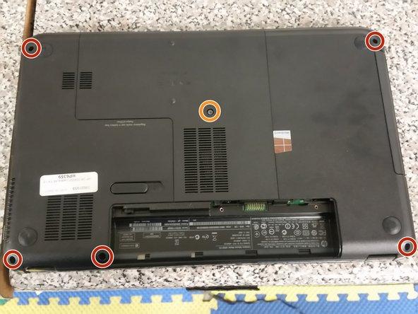 Remove the five M2.5xL6.5 palmrest screws...