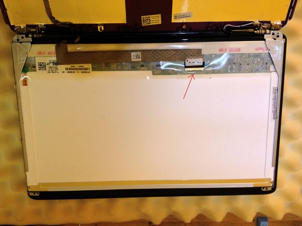 If you have a CCFL LCD panel, you may have to unscrew the inverter board.