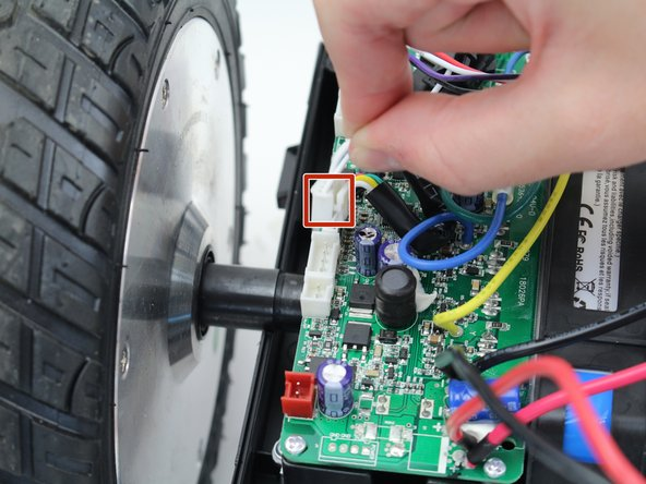 Disconnect the following wires connecting the circuit boards to the sensors and motors: