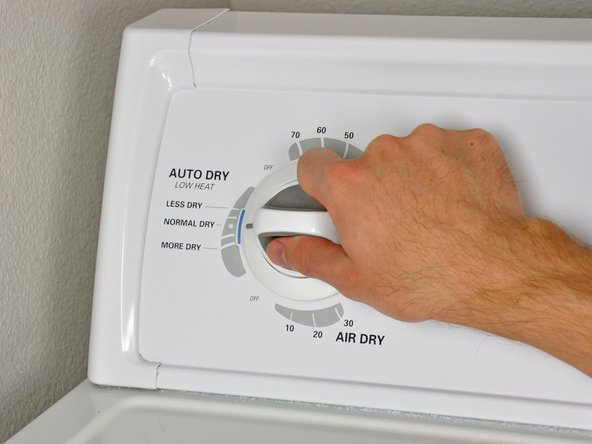 Set the dryer to a normal or permanent press cycle.