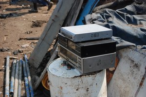I took this photo of a Sony DVD player at an e-waste dump in Ghana in July