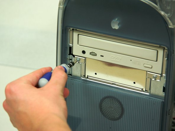 Removing PowerMac G4 M5183 DVD-ROM Drive Tray