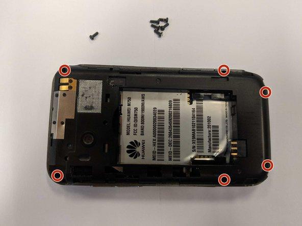 Using the T5 Torx screwdriver, remove the six 6mm screws.