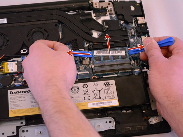 Remove the first stick and and do the same thing to the second RAM stick.