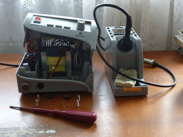... by Phillips #1 screwdriver and you can open the body of the  solder station.