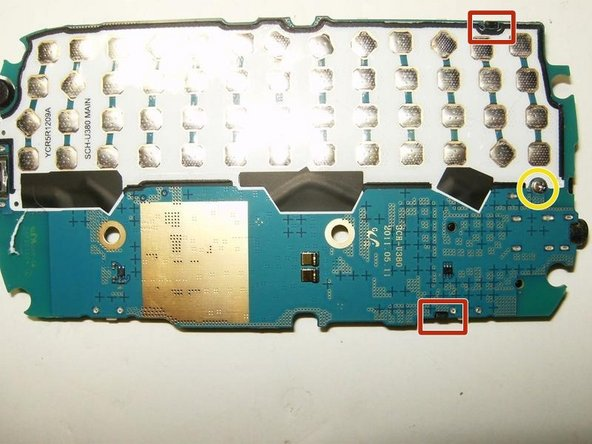 turn the logic board over. The speaker module is held in place