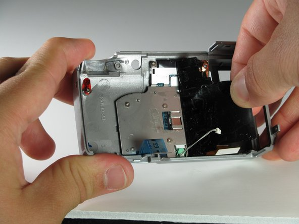 Peel the black tape off of the back surface of the LCD