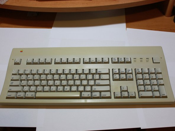 Here's the keyboard we will be working on today. She's not beautiful, but she's mine.